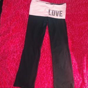 Love Pink Sequin Yoga Pants (Short Length)